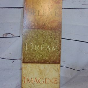 Believe dream imagine wall decor